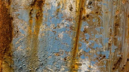 Металлическая текстура с ржавчиной и краской