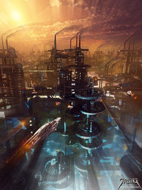 вид города будущего