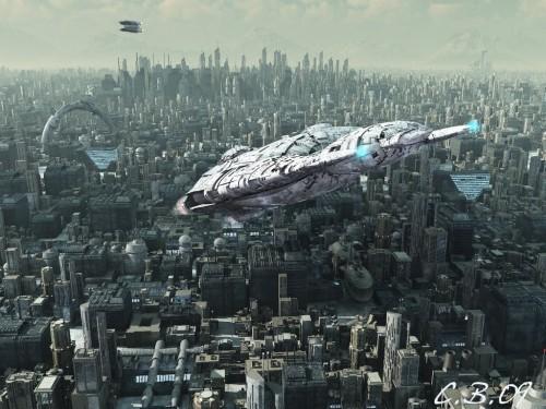 корабль в будущем
