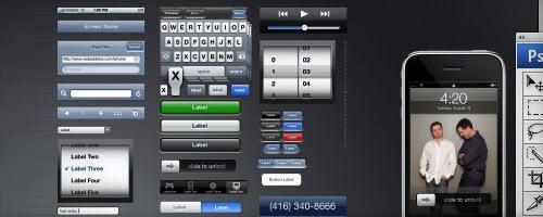 Шаблон ползовательского интерфейса iPhone