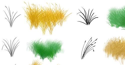 Набор кистей травы