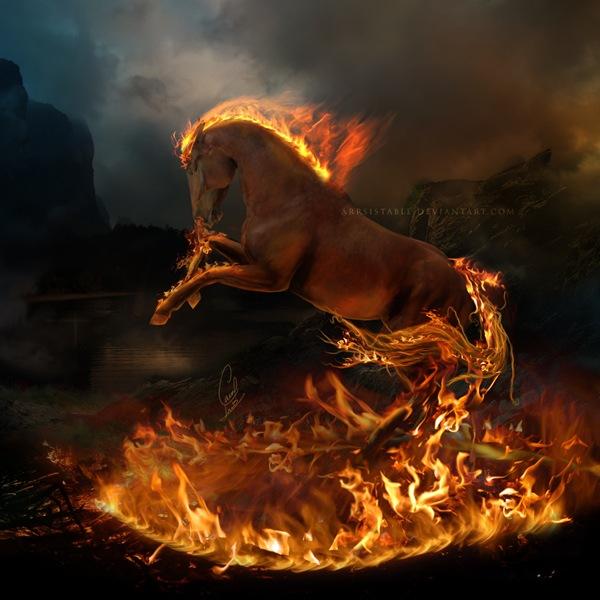 пылающий конь