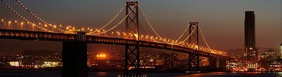 мост в огнях