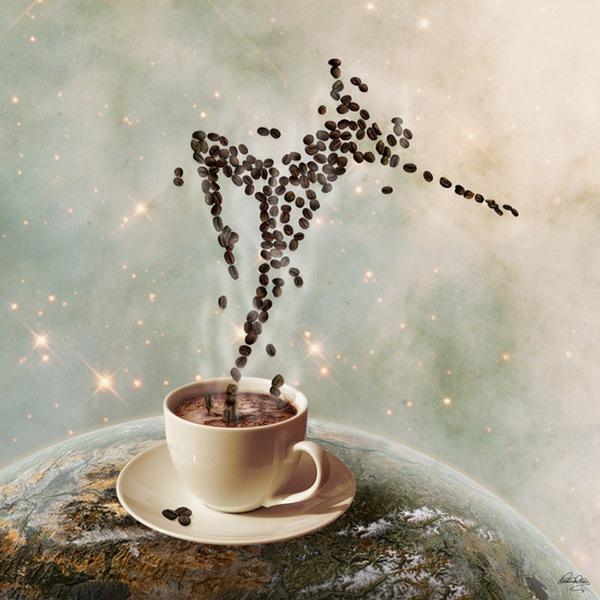 танцующий кофе