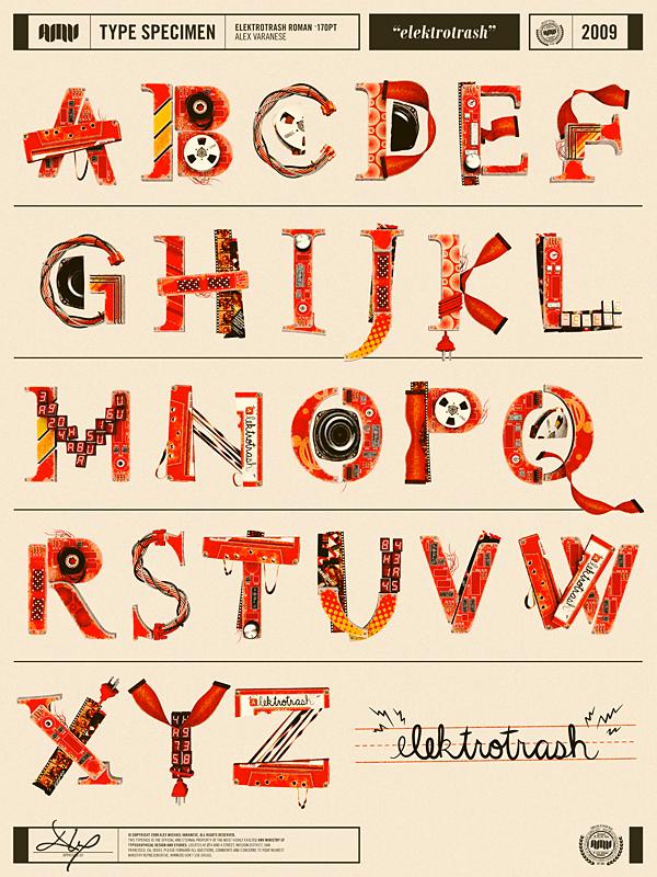ретро шрифт