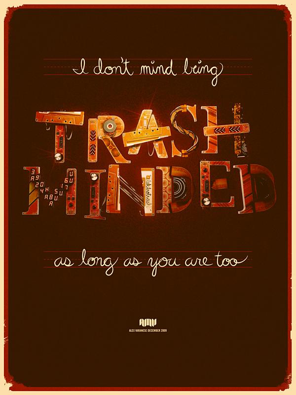 ретро типографический постер