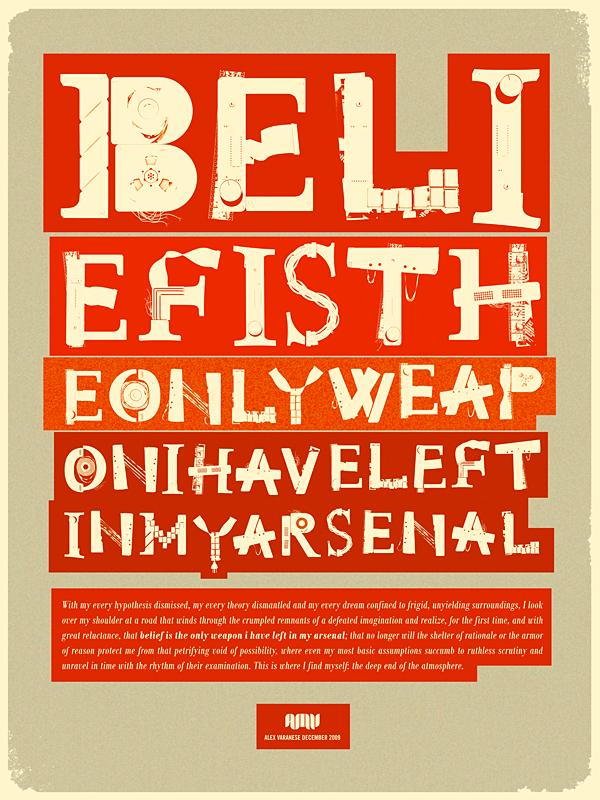 текст из ретро шрифтов