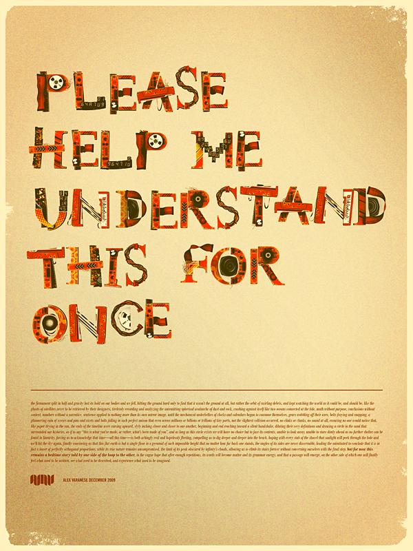 красочный ретро постер