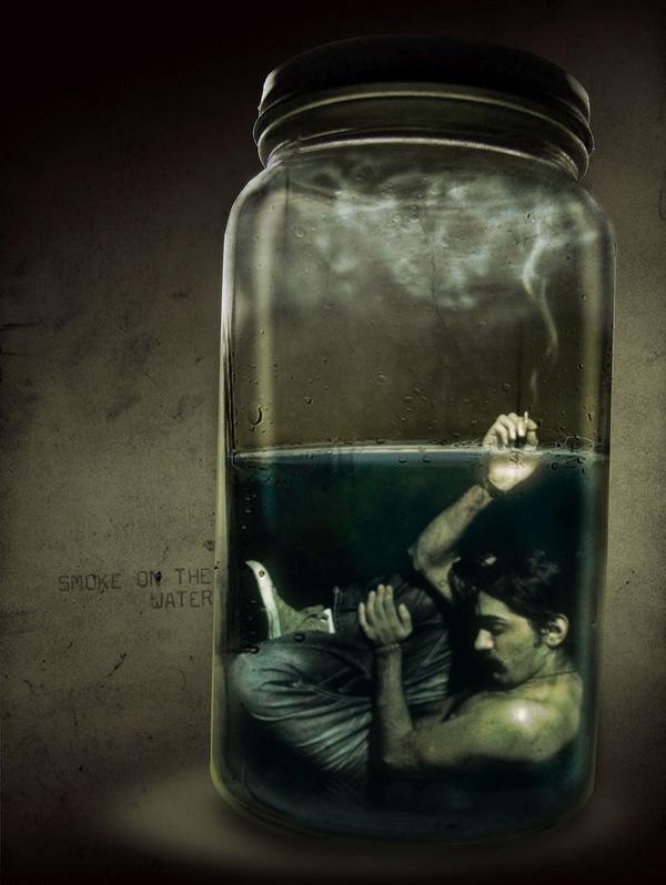 курящий под водой