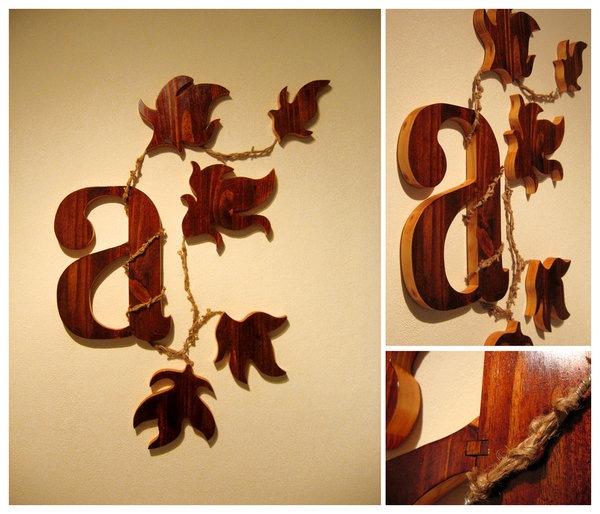 деревянная типографика