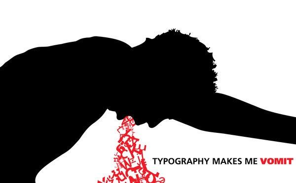 черно-красная типографика