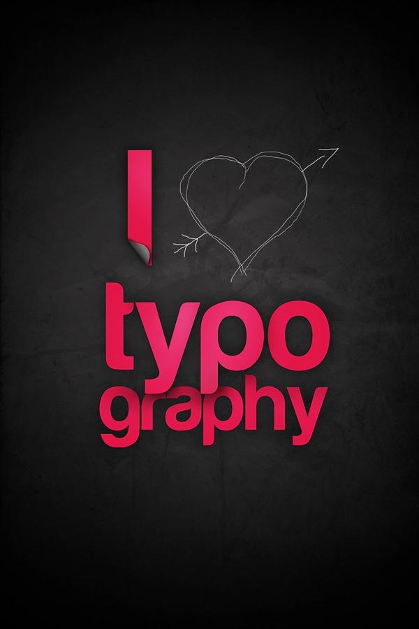 черно-розовая типографика