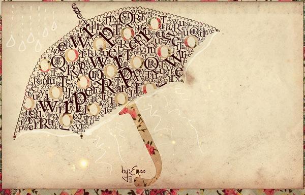 типографический зонт
