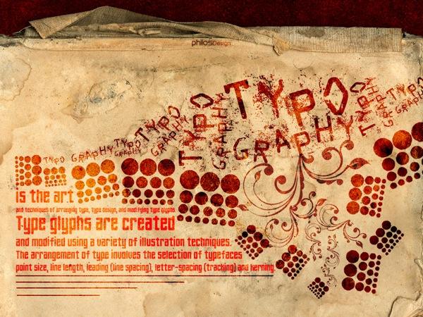 гранж типографика