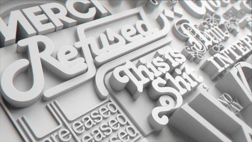 Белоснежные шрифты в 3D