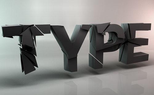 23 примера 3d типографики