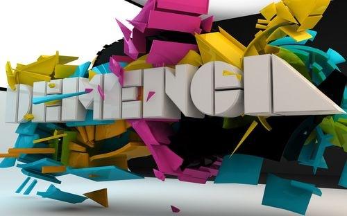 Яркий типографический дизайн