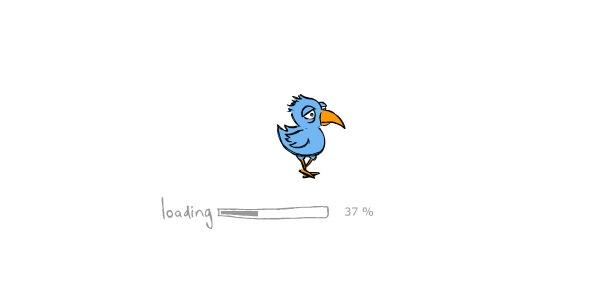 птичка ходящая по прелоадеру