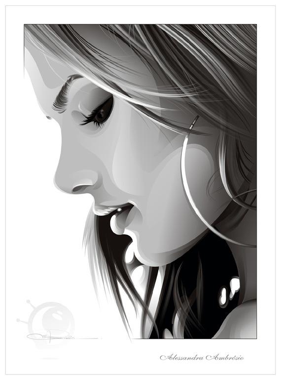 черно-белый портрет