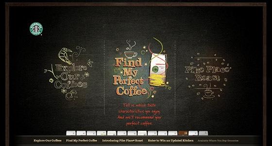 Стильный сайт Starbucks