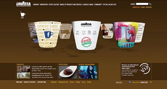 Сайт для Lavazza