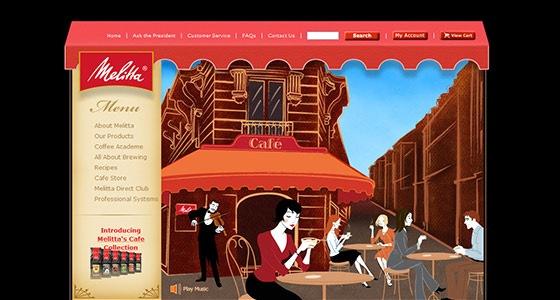 Сайт из иллюстраций
