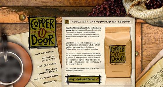 Дизайн для сайта с кофе