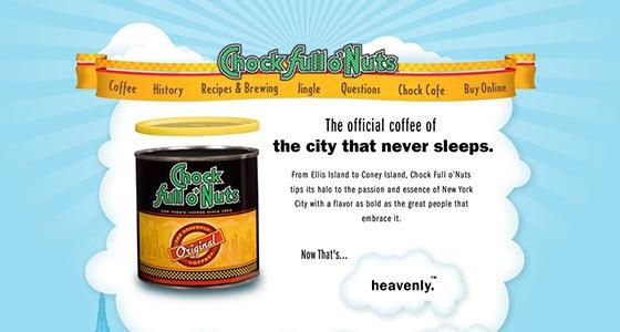 Иллюстрированный сайт для кофе