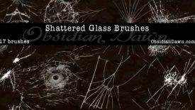 Кисти разбитого стекла