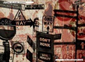 Дорожные знаки в стиле гранж