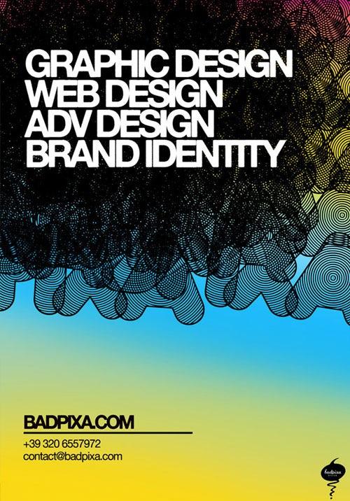 Флаер с креативной типографикой