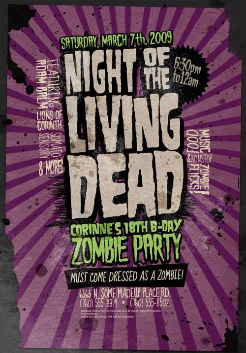 Флаер к Зомби вечеринке