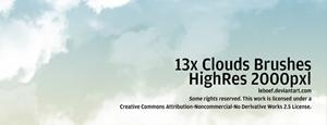 13 облаков в высоком разрешении