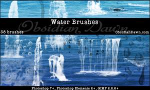 36 кистей различных форм воды