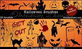 Векторные кисти Хеллоуина