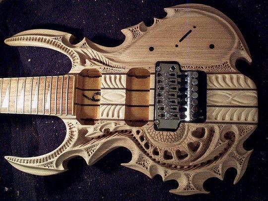 Резная гитара