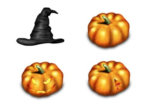 4 Хеллоуин иконки в высоком разрешении