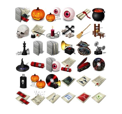 Хеллоуин иконки в форматах .png и .ico