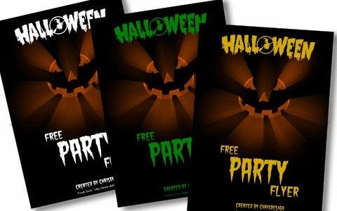 Шаблоны флаеров для вечеринок Хеллоуин