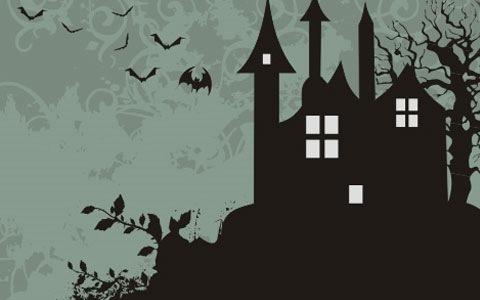 Ночная Хеллоуин графика