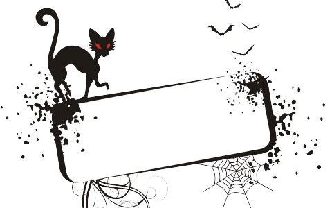 Векторная Хеллоуин рамка
