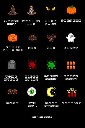 Хеллоуин иконки
