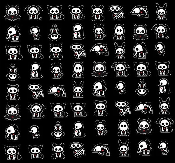 Обои с изображениями скелетов мультяшных животных