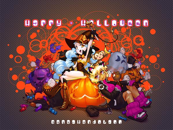 Яркие обои под Хеллоуин