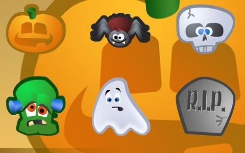 Забавные Хеллоуин иконки в мультипликационном стиле