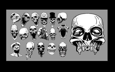 Подборка с изображениями черепов в eps формате