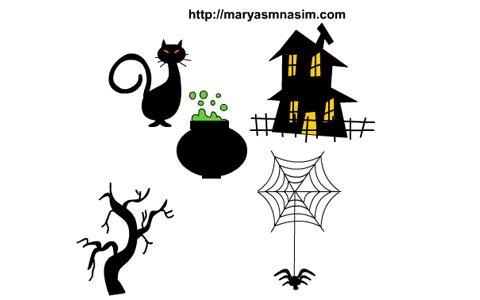 Бесплатная векторная графика в стиле Хеллоуин
