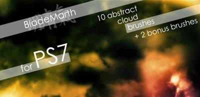 Кисти абстрактных облаков