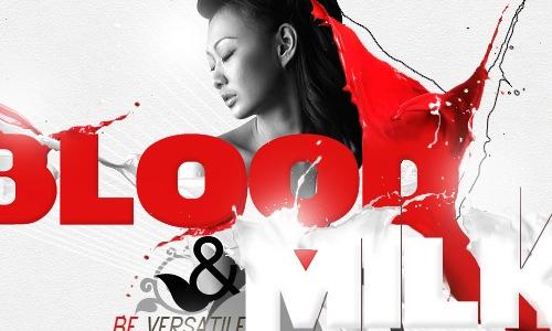 """типографический постер """"Кровь с молоком"""""""