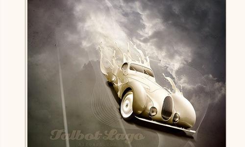 постер с изображением ретро автомобиля и эффектом брызг краски